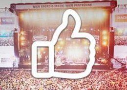 "Festbühne mit ""Like_Emoji"""